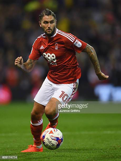 Henri Lansbury of Nottingham Forest in action during the EFL Cup Third Round match between Nottingham Forest and Arsenal at City Ground on September...