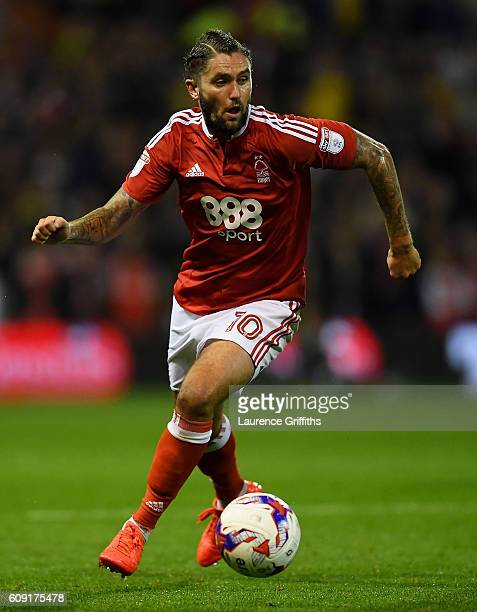 Henri Lansbury of Nottingham Forest looks on during the EFL Cup Third Round match between Nottingham Forest and Arsenal at City Ground on September...