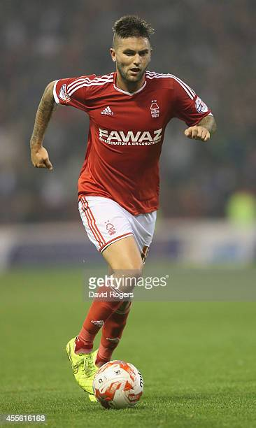 Henri Lansbury of Nottingham Forest runs with the ball during the Sky Bet Championship match between Nottingham Forest and Fulham at the City Ground...