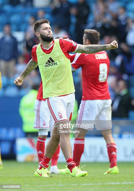 Henri Lansbury of Nottingham Forest who scored the only goal of the match celebrates after the Sky Bet Championship match between Sheffield Wednesday...