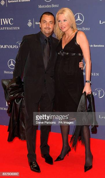 Henri Leconte and guest arrive for the Laureus World Sports Awards at the Palau Sant Jordi in Barcelona Spain
