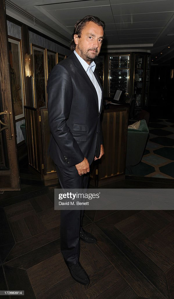 Henri Leconte attends a reception hosted by Rod Laver and Margaret Court to celebrate the 127th Wimbledon Championships and Henri Leconte's 50th birthday at Jumeirah Carlton Tower on July 4, 2013 in London, England.