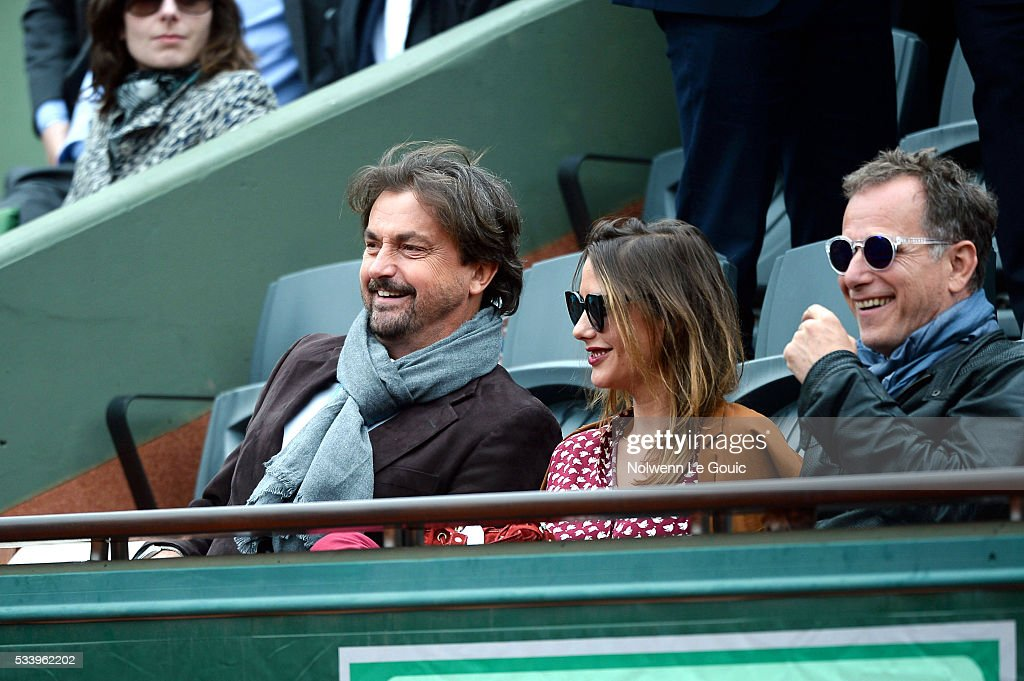 Henri Leconte during the Men's Singles first round on day three of the French Open 2016 at Roland Garros on May 24, 2016 in Paris, France.
