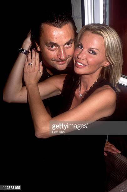 Henri Leconte Florentine during Katoucha Party in Paris September 27 2004 at Pershing Hall Restaurant Club in Paris France