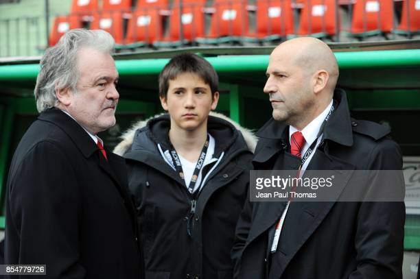 Henri LEGARDA / Michel MOULIN Saint Etienne / Le Mans 31eme journee de Ligue 1 Stade Geoffroy Guichard