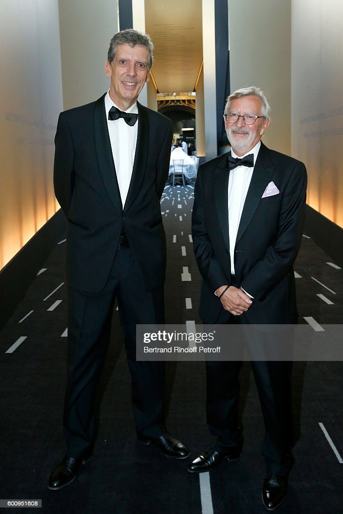 Henri Loyrette and Dominique Chevalier attend the 28th Biennale des Antiquaires : Pre-Opening at Grand Palais on September 8, 2016 in Paris, France.