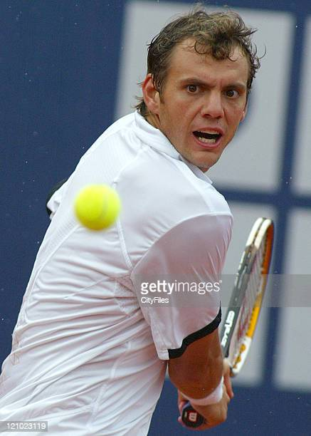 Henri Mathieu during the match against Fernando Gonzalez at the 2007 Estoril Open in Estoril Portugal on May 1 2007