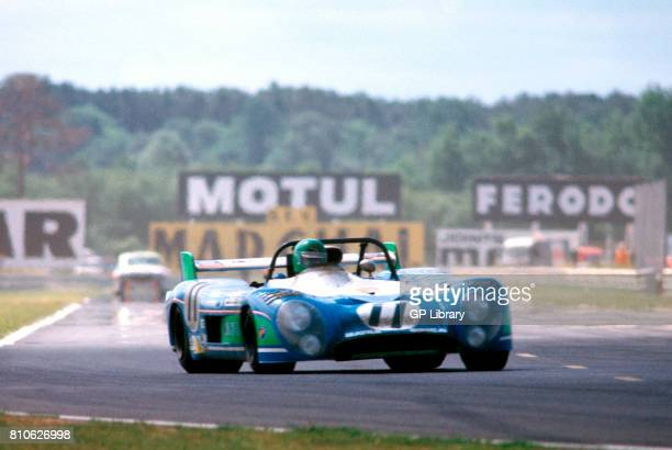 Henri Pescarolo driving a Matra MS670 at Le Mans 24 Hours 1st
