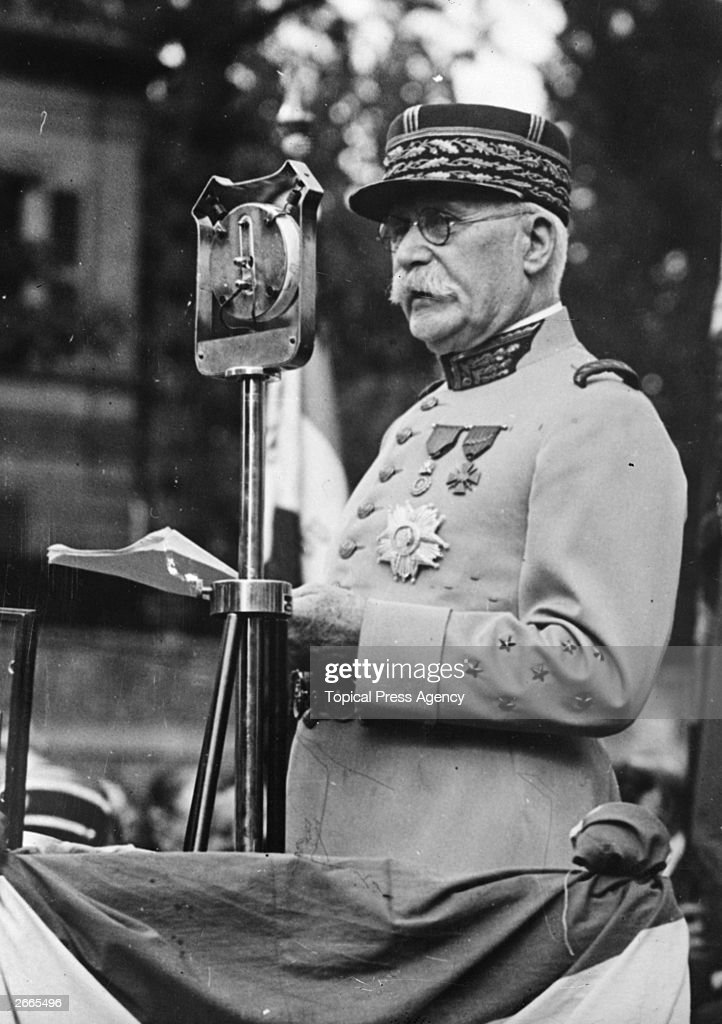 Henri Philippe Petain (1856 - 1951), French soldier and statesman.