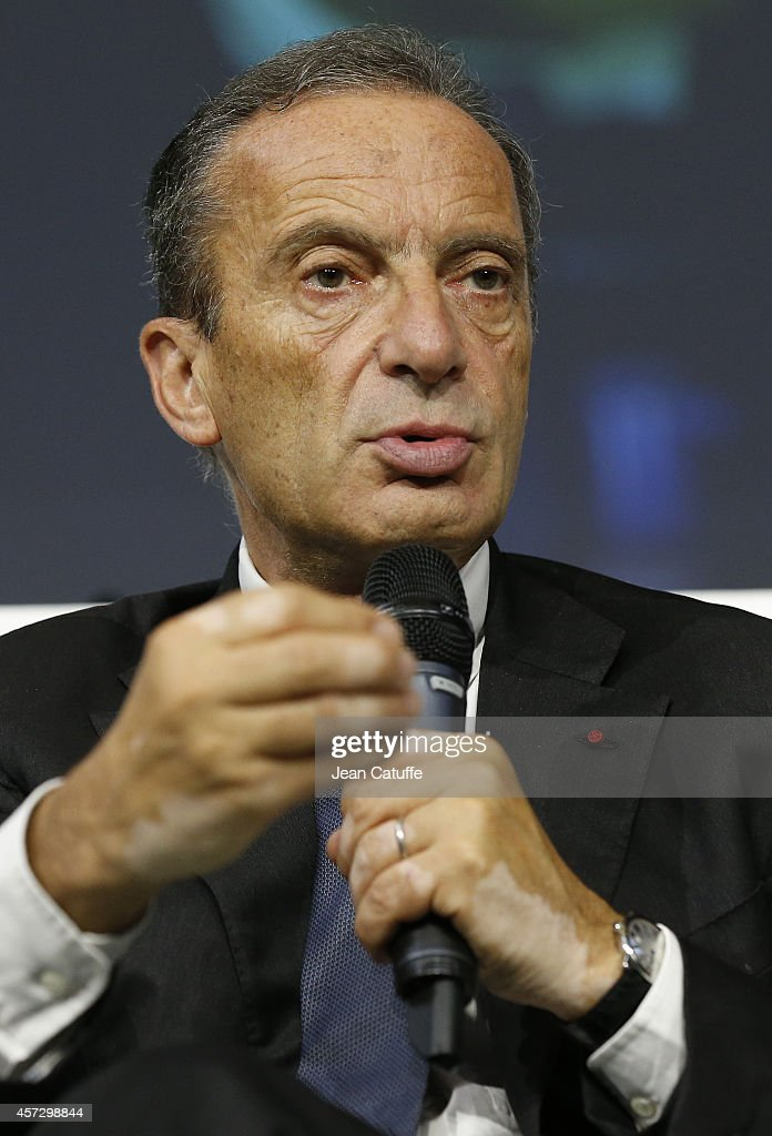 <a gi-track='captionPersonalityLinkClicked' href=/galleries/search?phrase=Henri+Proglio&family=editorial&specificpeople=569837 ng-click='$event.stopPropagation()'>Henri Proglio</a>, CEO of EDF (Electricite de France) participates at the 'World Summit Of Regions For Climate' at Palais d'Iena on October 11, 2014 in Paris, France.