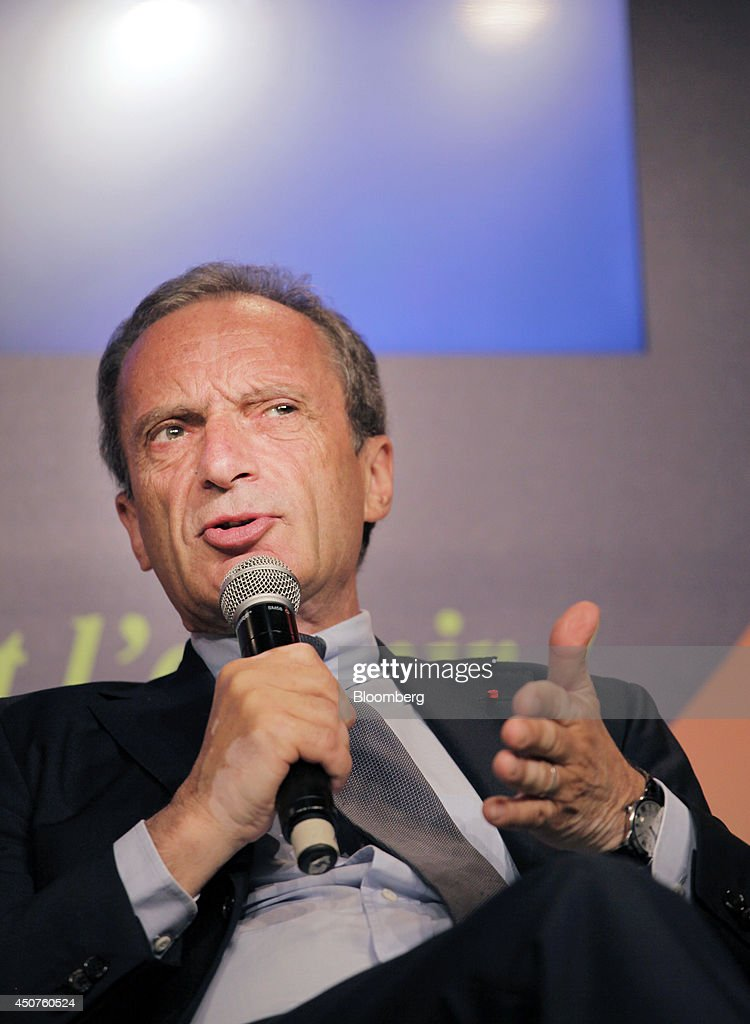 <a gi-track='captionPersonalityLinkClicked' href=/galleries/search?phrase=Henri+Proglio&family=editorial&specificpeople=569837 ng-click='$event.stopPropagation()'>Henri Proglio</a>, chairman of Electricite de France SA (EDF), gestures as he speaks at the annual symposium of the Union Francaise de L'Electicite (UFE) in Paris, France, on Tuesday, June 17, 2014. Key speakers spoke at the event headlined as the Low Carbon Strategy and Industrial Renaissance; two challenges for the Energy Tranmsition. Photographer: Kosuke Okahara/Bloomberg via Getty Images