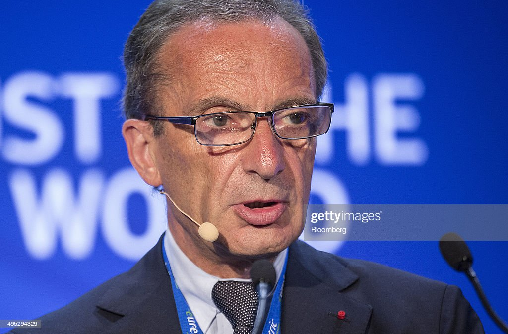 <a gi-track='captionPersonalityLinkClicked' href=/galleries/search?phrase=Henri+Proglio&family=editorial&specificpeople=569837 ng-click='$event.stopPropagation()'>Henri Proglio</a>, chairman of Electricite de France SA (EDF), speaks during the annual EURELECTRIC conference in London, U.K., on Monday, June 2, 2014. The EU's Agency for the Cooperation of Energy Regulators is reviewing price bidding zones in Europe's power market amid an increasing amount of physical power flows between regions. Photographer: Simon Dawson/Bloomberg via Getty Images