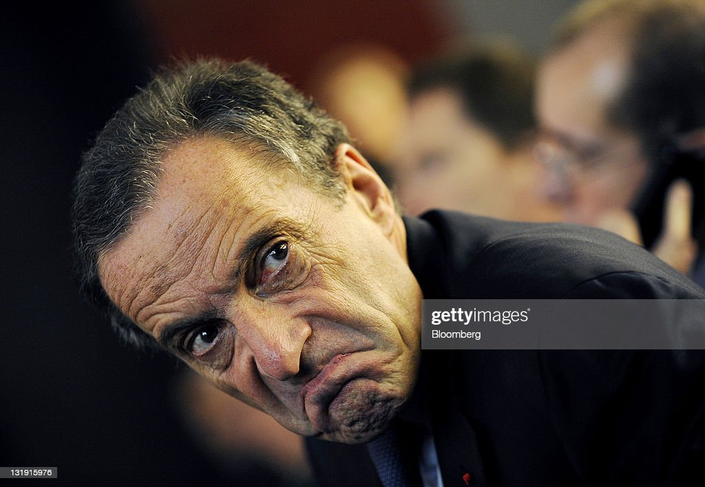 Henri Proglio, chief executive officer of Electricite de France SA (EDF), listens during a meeting of the Union Francaise de l'Electricite (UFE) in Paris, France, on Tuesday, Nov. 8, 2011. Electricite de France SA could raise its shareholding in the Dalkia energy-services venture to 50 percent, according to Proglio. Photographer: Fabrice Dimier/Bloomberg via Getty Images