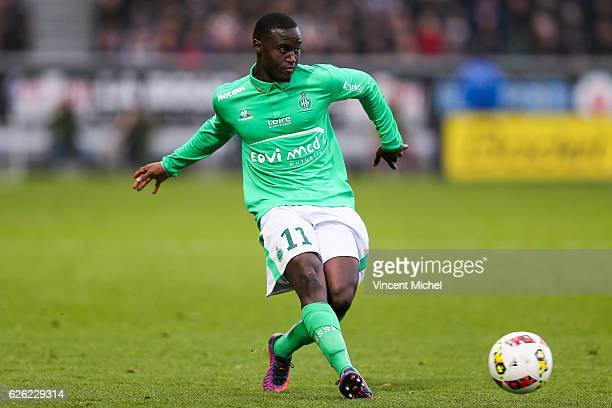 Henri Saivet of SaintEtienne during the French Ligue 1 match between Angers and Saint Etienne on November 27 2016 in Angers France