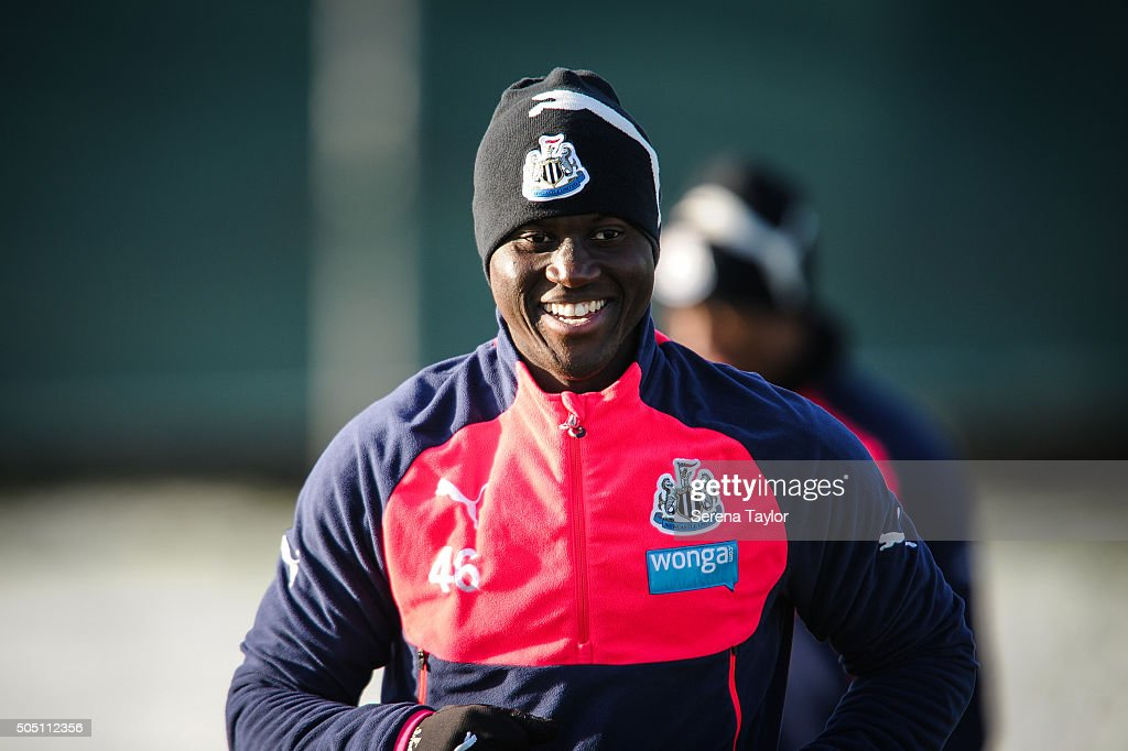 <a gi-track='captionPersonalityLinkClicked' href=/galleries/search?phrase=Henri+Saivet&family=editorial&specificpeople=5969966 ng-click='$event.stopPropagation()'>Henri Saivet</a> smiles during the Newcastle United Training session at The Newcastle United Training Centre on January 15, 2016 in Newcastle upon Tyne, England.