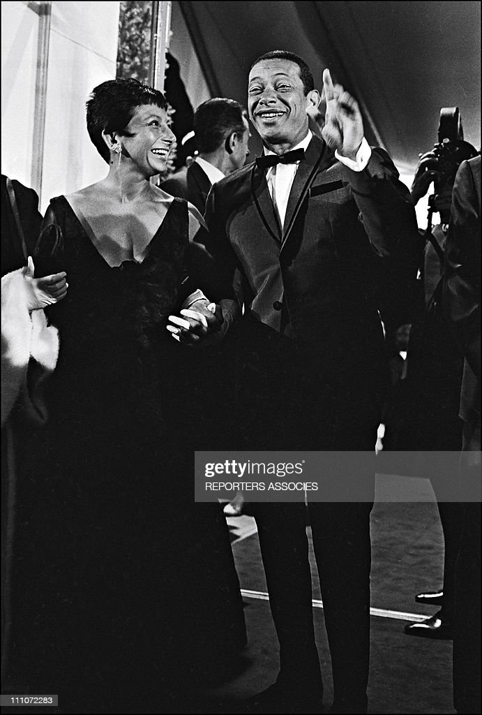 Henri Salvador and wife in Cannes France on May 24 1965
