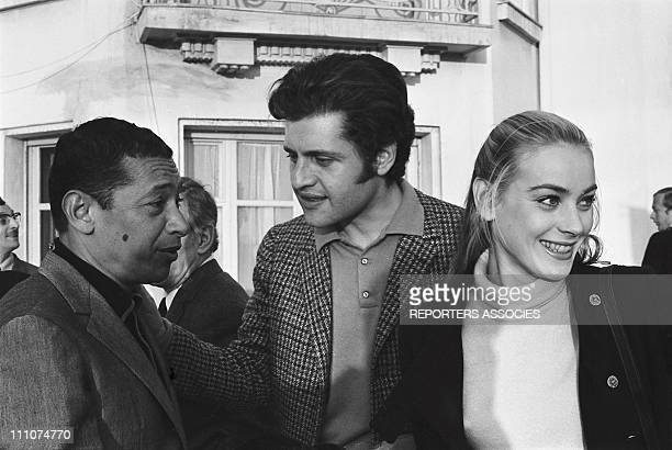 Henri Salvador Joe Dassin Genevieve Grad in Cannes France on January 23rd 1968