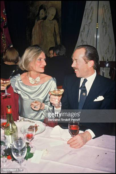 Henri the Duc D' Orléans with his wife Micaela at 'L' Elysee Matignon' for Mei Chen's birthday in 1984