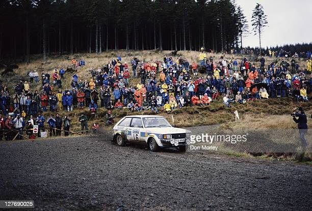 Henri Toivonen of Finland and co driver navigator Paul White drive the Talbot Sunbeam Lotus during the FIA World Rally Championship 29th Lombard RAC...