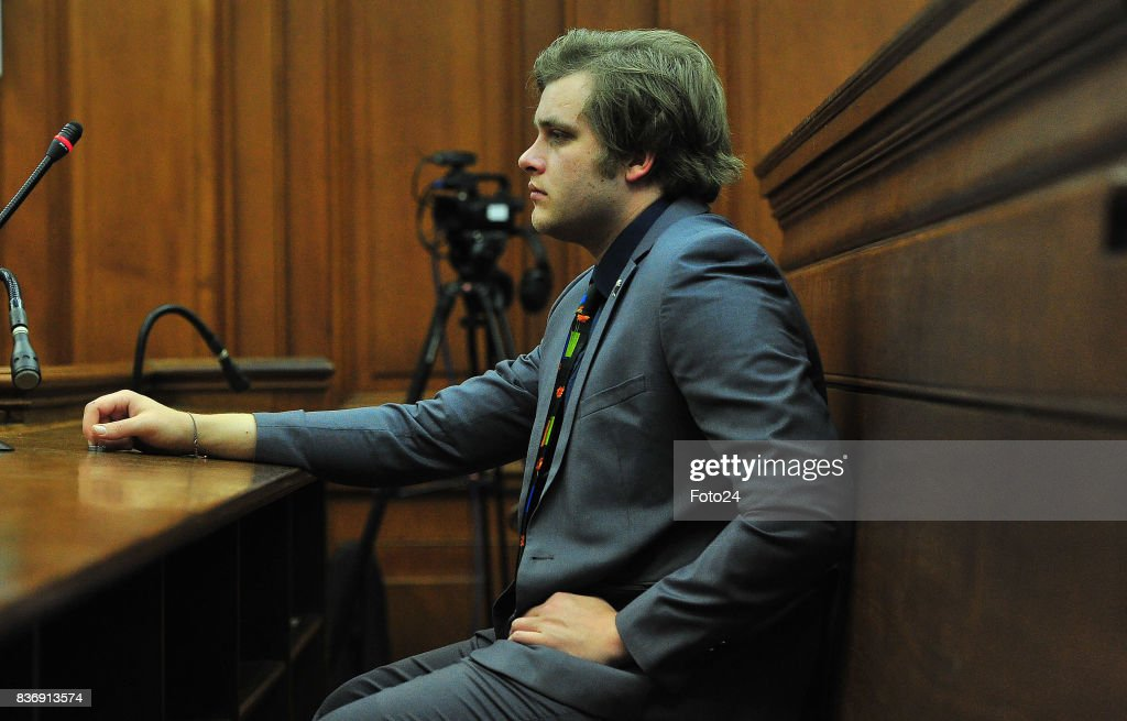 Henri van Breda seen in court on August 21, 2017 in Cape Town South Africa. Van Bredas funds for the court case is running out fast as the state asked for another postponement as their expert witness is still booked off due to illness, advocate Pieter Botha for Henri told the court that his client could not afford another postponement.