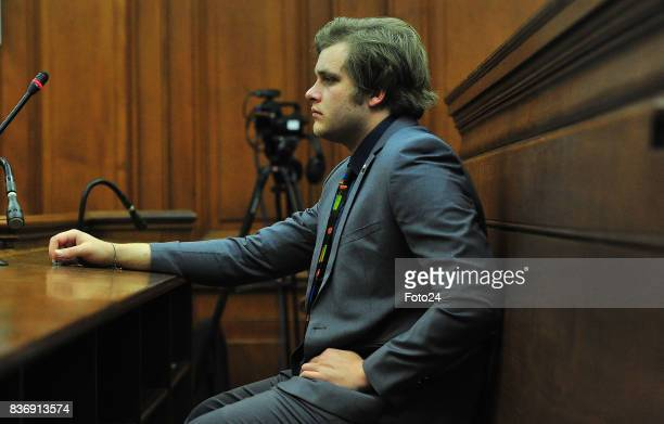 Henri van Breda seen in court on August 21 2017 in Cape Town South Africa Van Bredas funds for the court case is running out fast as the state asked...