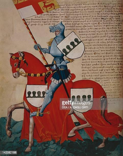 Henricus Forzate de Transelgardi miniature from the Capodilista Codex Manuscript Italy 14th Century