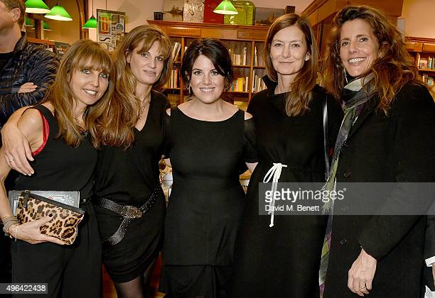 Henrietta Conrad Jemima Khan Monica Lewinsky Rose Uniacke and Christina Robert attend the launch of AA Gill's new book 'Pour Me A Life' at Daunt...