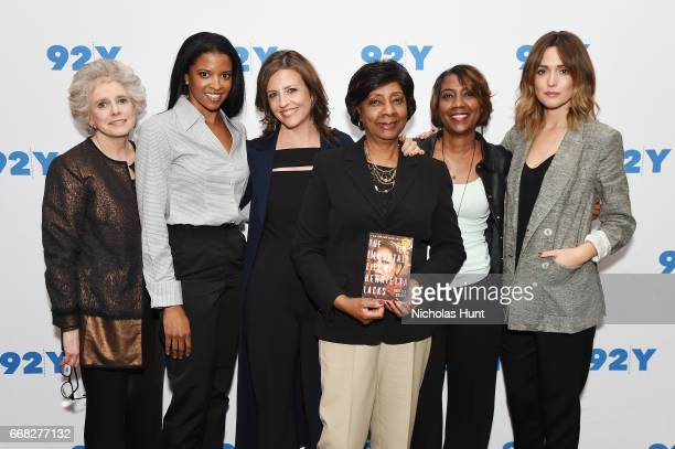Henrietta Dreifus Renee Elise Goldsberry Rebecca Skloot Shirley Lacks and Jeri Lacks and Rose Byrne attend the 92nd Street Y Presents 'The Immortal...