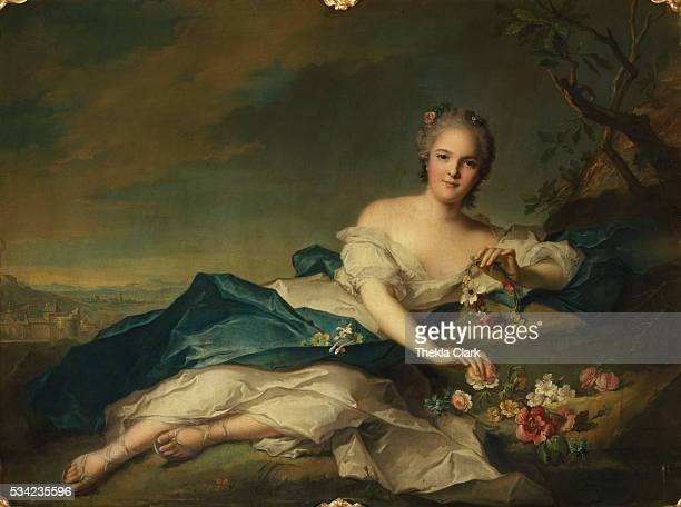 Henriette of France as Flora by JeanMarc Nattier