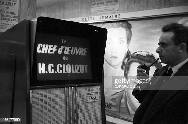 HenriGeorges And Vera Clouzot For The Release Of The Film 'Les Diaboliques' Paris 1955 HenriGeorges CLOUZOT présente 'Les Diaboliques' adapté d'un...