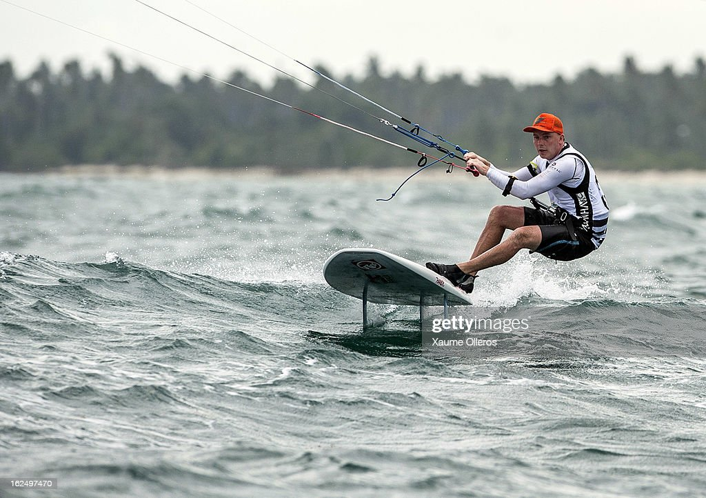 Henrik Baerentzen of Denmark in action on race competition during day four of the 1st KTA Bintan at Argo Beach Resort on February 24, 2013 in Bintan Island, Indonesia.