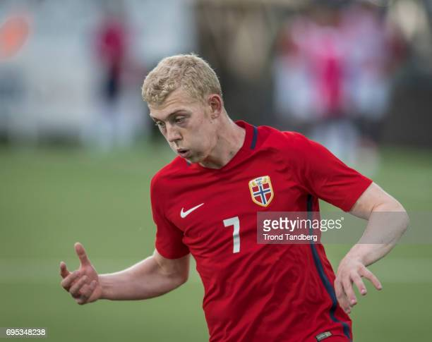 Henrik Bjordal of Norway during the Qualifying Round European Under 21 Championship 2019 between Norway v Kosovo at Ullevaal Stadion on June 12 2017...
