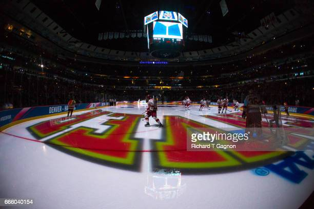 Henrik Borgstrom of the Denver Pioneers skates before a game against the Notre Dame Fighting Irish before game two of the 2017 NCAA Division I Men's...