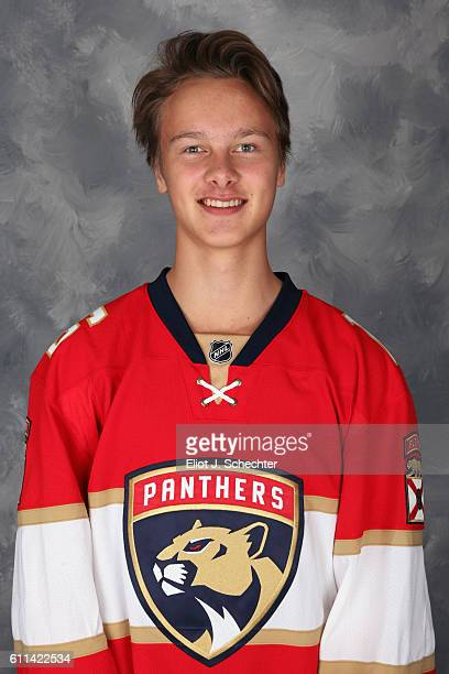 Henrik Borgstrom of the Florida Panthers poses for his official headshot for the 20162017 season on September 22 2016 at the BBT Center in Sunrise...