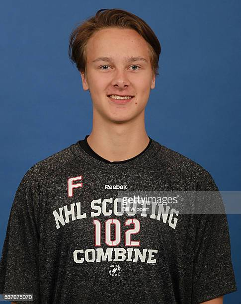 Henrik Borgstrom poses for a headshot at the 2016 NHL Combine on June 2 2016 at Harborcenter in Buffalo New York