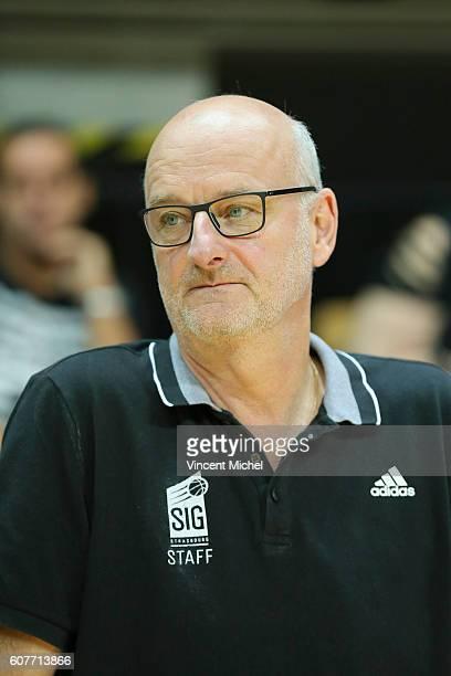 Henrik Dettmann headcoach of Strasbourg during the Final match between Strasbourg and Gravelines Dunkerque at Tournament ProStars at Salle Arena...