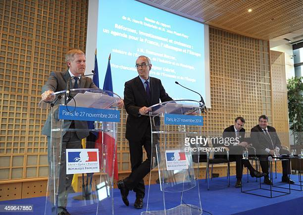 Henrik Enderlein head of the Jacques Delors Institute in Berlin and Jean PisaniFerry Commissioner General of the French General Commission for...