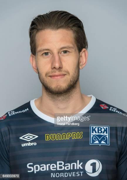 Henrik Gjesdal of Team Kristiansund BK on March 7 2017 in Kristiansund Norway