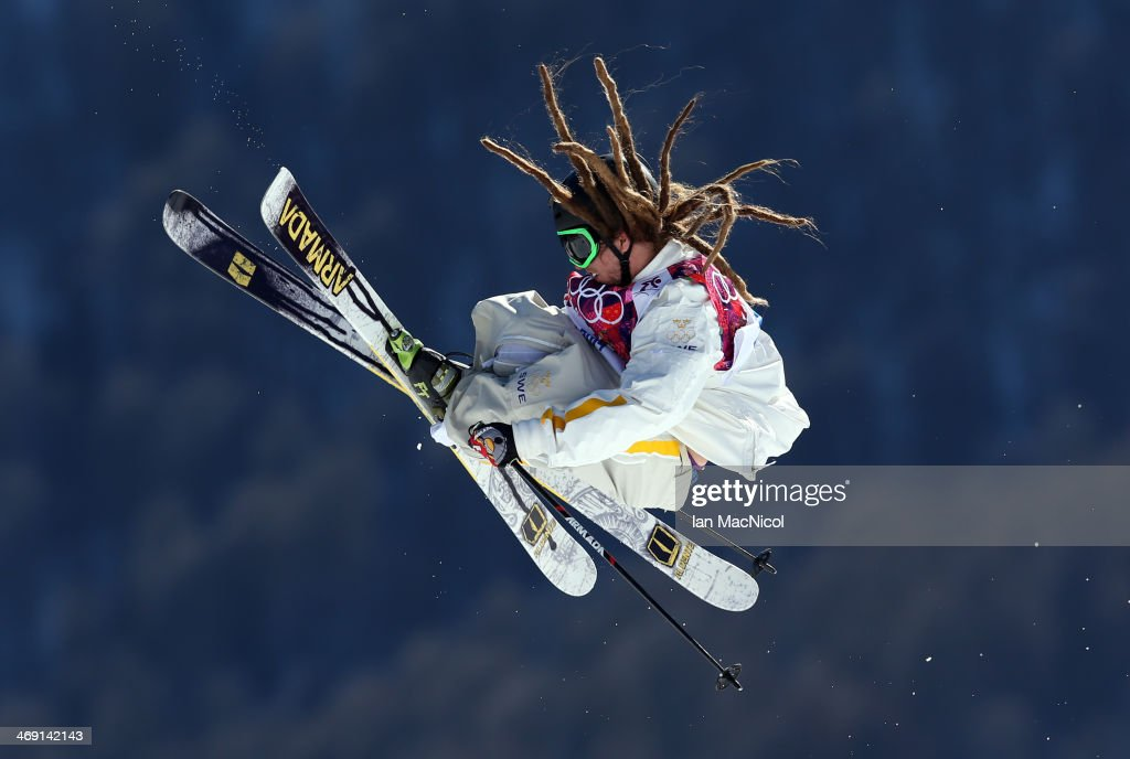 Henrik Harlaut of Sweden competes in the Freestyle Skiing Men's Ski Slopestyle Final during day six of the Sochi 2014 Winter Olympics at Rosa Khutor Extreme Park on February 13, 2014 in Sochi, Russia.