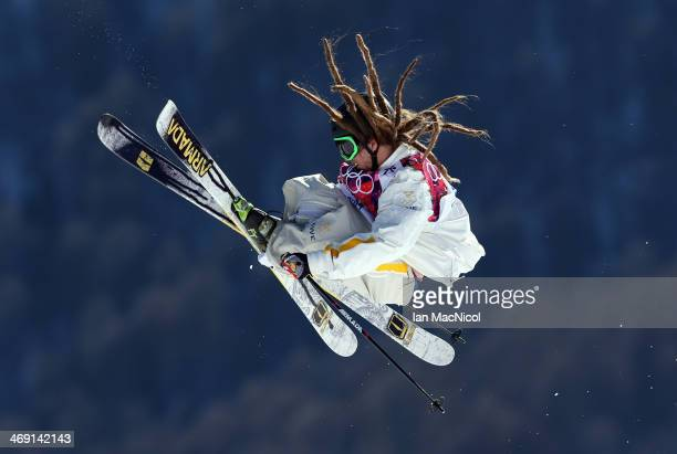 Henrik Harlaut of Sweden competes in the Freestyle Skiing Men's Ski Slopestyle Final during day six of the Sochi 2014 Winter Olympics at Rosa Khutor...