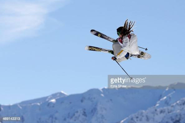 Henrik Harlaut of Sweden competes in the Freestyle Skiing Men's Ski Slopestyle Qualification during day six of the Sochi 2014 Winter Olympics at Rosa...