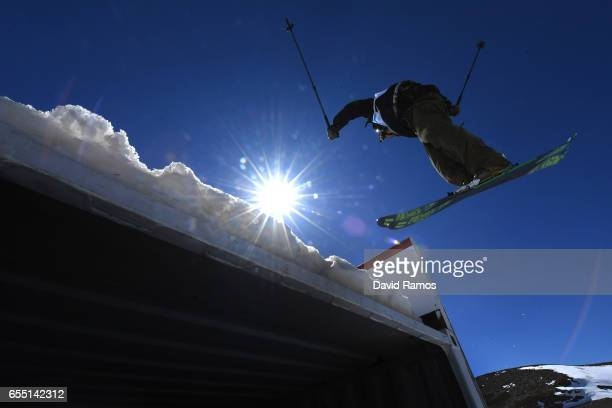 Henrik Harlaut of Sweden competes in the Men's Slopestyle final during day twelve of the FIS Freestyle Ski Snowboard World Championships 2017 on...