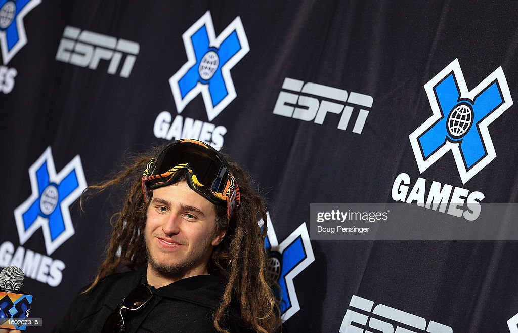 Henrik Harlaut of Sweden talks to the media after taking second place in the Men's Ski Slopestyle Final during the Winter X Games Aspen 2013 at Buttermilk Mountain on January 27, 2013 in Aspen, Colorado.