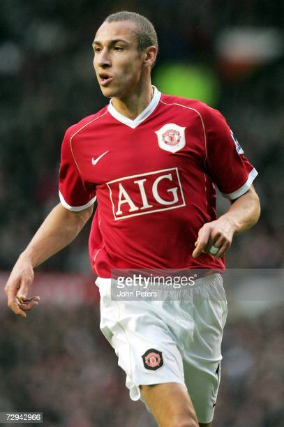 Henrik Larsson of Manchester United in action during the FA Cup sponsored by EON Third Round match between Manchester United and Aston Villa at Old...
