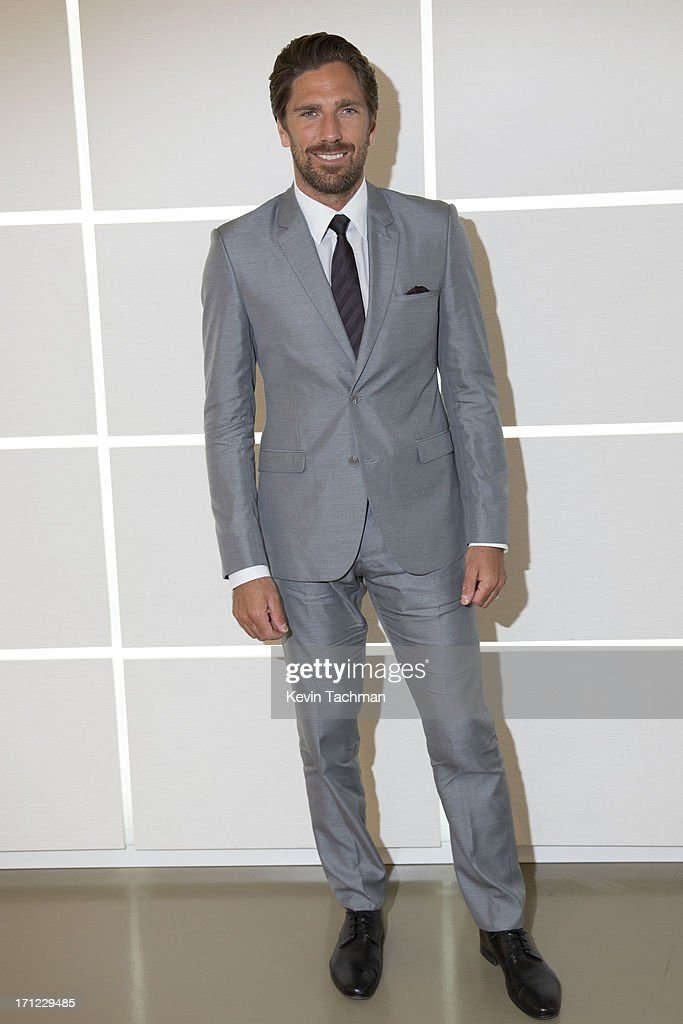Henrik Lundqvist attends the Calvin Klein Collection show during Milan Menswear Fashion Week Spring Summer 2014 on June 23, 2013 in Milan, Italy.