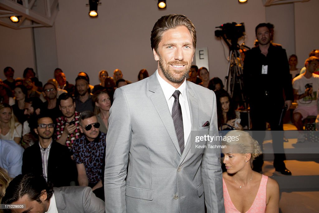 <a gi-track='captionPersonalityLinkClicked' href=/galleries/search?phrase=Henrik+Lundqvist&family=editorial&specificpeople=217958 ng-click='$event.stopPropagation()'>Henrik Lundqvist</a> attends the Calvin Klein Collection show during Milan Menswear Fashion Week Spring Summer 2014 on June 23, 2013 in Milan, Italy.