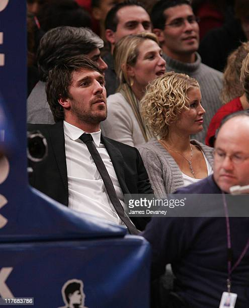 Henrik Lundqvist during Celebrities Attend Indiana Pacers vs New York Knicks Game November 4 2006 at Madison Square Garden in New York City New York...