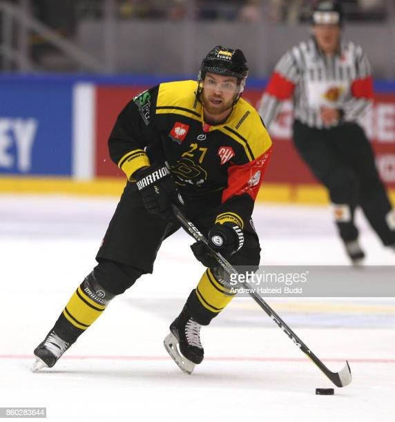 Henrik Medhus of Stavanger Oilers in action during the Champions Hockey League match between Stavanger Oilers and KalPa Kuopio at the DNB Arena on...