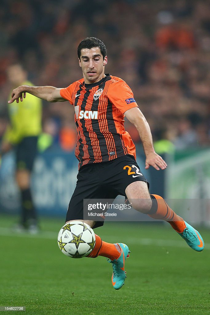 Henrik Mkhitaryan of Shakhtar Donetsk during the UEFA Champions League Group E match between Shakhtar Donetsk and Chelsea at the Donbass Arena on October 23, 2012 in Donetsk, Ukraine.