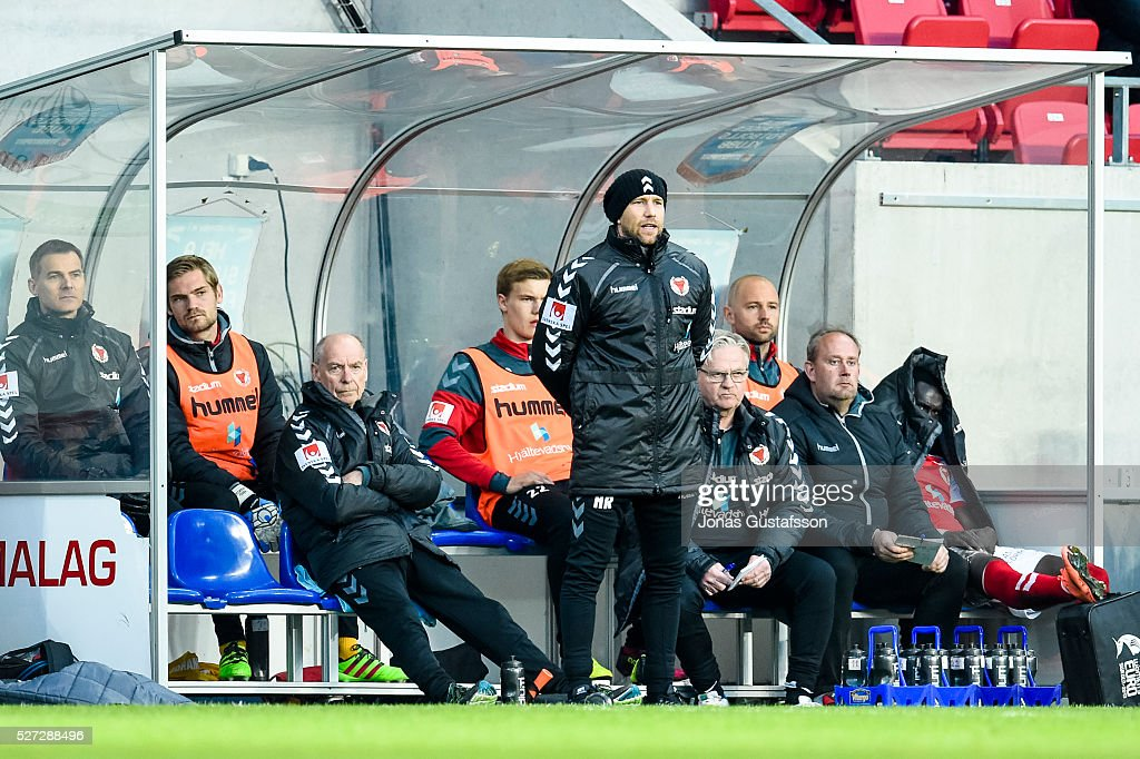 Henrik Rydstrom assistant coach of Kalmar FF during the Allsvenskan match between Kalmar FF and Orebro SK at Guldfageln Arena on May 2, 2016 in Kalmar, Sweden.